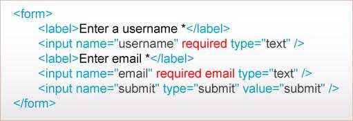 html5里写富表单